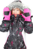 Little girl in ski wear Royalty Free Stock Photos