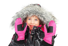 Little girl in ski wear Royalty Free Stock Photography