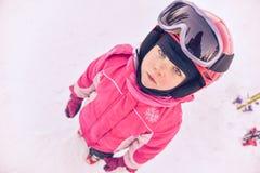 Little girl skier Stock Photography