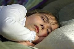 Little Girl Sleeping Stock Images