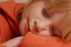 Little girl sleeping. Royalty Free Stock Image