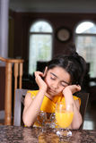 Little girl sleeping. Little girl in east indian clothes Stock Image
