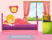 Little girl sleeping in bedroom Royalty Free Stock Photography