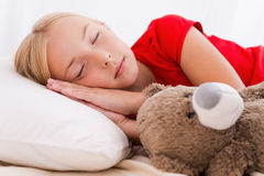 Little girl sleeping. Royalty Free Stock Photos