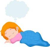 A little girl sleeping Stock Photo