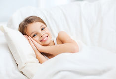 Little girl sleeping at home Royalty Free Stock Photo