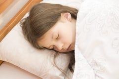 A little girl is sleeping Stock Photo
