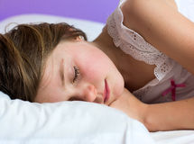 Little girl sleeping Stock Photography