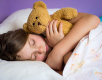 Little girl sleeping Royalty Free Stock Image