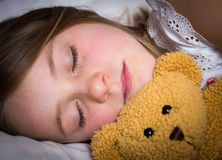 Little girl sleeping Royalty Free Stock Images