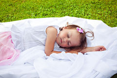 Little girl sleeping sweetly Stock Photo