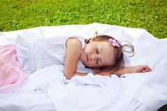 Little girl sleeping sweetly Stock Photo