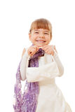Little girl with small bag Royalty Free Stock Images