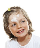 Little girl with smallpox Royalty Free Stock Images