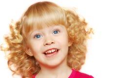 Little girl smile. Little blondie blue-eyed girl smile Stock Photography