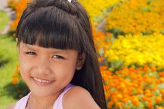 Little girl smile Stock Image