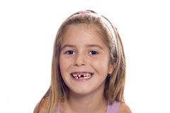 Little girl smile. Smiling and happy child Stock Photos