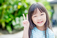Little girl smile happily Royalty Free Stock Image