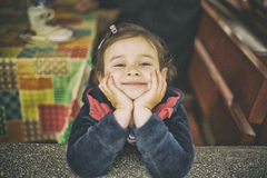Little girl smile Stock Photos