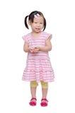 Little girl smiles over white Royalty Free Stock Image