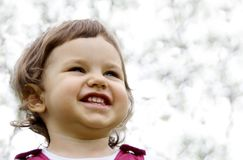 Little Girl Smiling. Little Playful Girl Smiling Portrait Stock Image