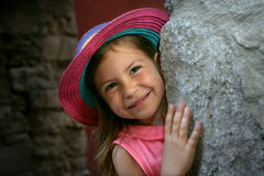 Little girl smiling Stock Photography