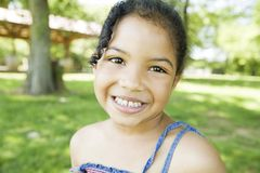 Little girl smiling Royalty Free Stock Image