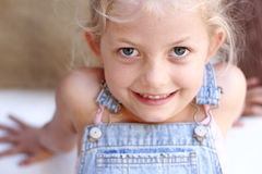 Little girl smiling. Young girl smiling Stock Photo