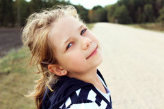Little girl smiling Royalty Free Stock Photo