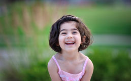 A little girl smiling Stock Photo