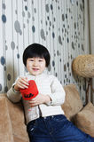 Little girl smiling at camera Stock Photos