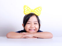 Little girl smiling face portrait Royalty Free Stock Image