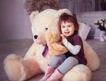 Little girl smiling stock images