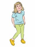 Little girl smiling illustration Stock Photography