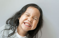 Little girl smiling with mouth wide open Stock Photos