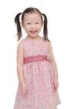 Little girl smiling over white Stock Photography