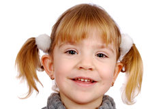 Little girl smiling portrait Stock Photography