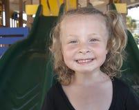 Little girl smiling portrajt. Photo image of the portrait of a smiling little girl Royalty Free Stock Images