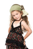 Little girl smiling seductress Royalty Free Stock Photos