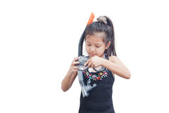 Little girl with snorkel mask. Stock Photo