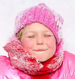 Little girl  in snow . Stock Photography