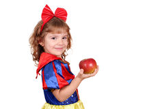 Little girl snow white Stock Images