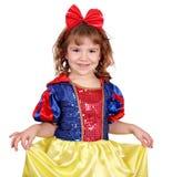 Little girl snow white royalty free stock photos