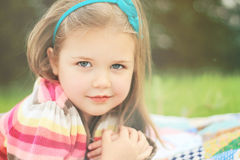 Little girl with soft smile Royalty Free Stock Photos