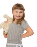 Little girl with soft toy Royalty Free Stock Photos