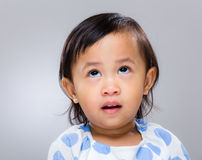Little girl speechless Royalty Free Stock Image