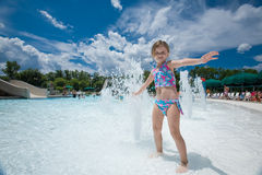 Free Little Girl Splashing Water Stock Images - 5557774