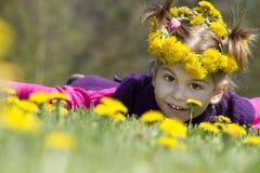 Little girl spring portrait Stock Images