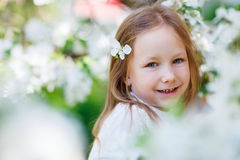 Little girl spring portrait Royalty Free Stock Photography