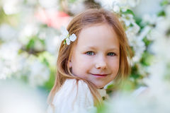 Little girl spring portrait Royalty Free Stock Photos
